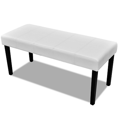 106cm Wooden Padded Make Up Dressing Table 2-Seater Stool Seat Sofa Chair Bench