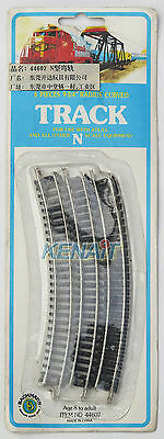 """Bachmann N Scale 9-3/4"""" Radius Curved Track x 6 For use with Atlas # 44607"""
