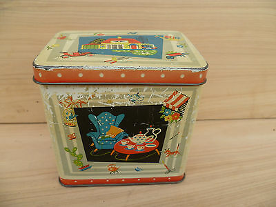 Vintage Old Kids Style Tin, Old Tin