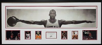 NBA - Michael Jordan - WINGS - Large Framed Photographic Print - READY TO HANG