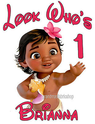 NEW Moana Baby Custom Personalized t shirt Birthday party Maui Add Name and age