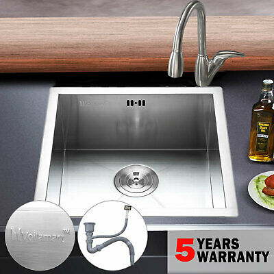 Stainless Steel Kitchen Sink Square Bowl Laundry Washing Basin Waste Undermount