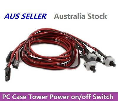 PC Case Mainboard Power on/off or Reset Replacement Switch Button Cable 50cm