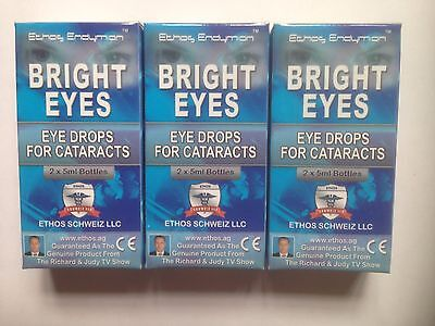 Ethos Eye Drops for Cataracts Bright Eyes 3 Boxes 30ml