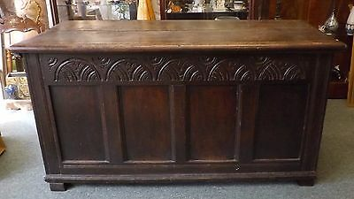 18th Century Carved Oak Coffer Like Something you would see in Game of Thrones!