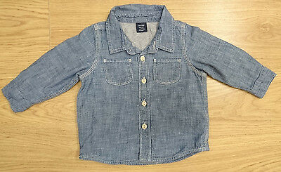 Gap Baby Boys Jeans Shirt Age 6-9 Months Blue