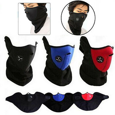 Motorcycle Cycle Ski Thermal Face Neck Warmer Mask Balaclava Under Helmet Scarf