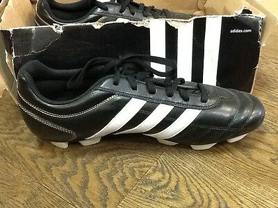 outlet store b5153 053ec Adidas Questra III TRX HG Black and White SoccerFootball Trainers Size UK  11.5