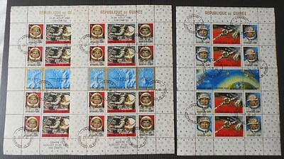 Guinea - Space miniature sheets - Gemini 5 1965 1 with ovpt - mint cto