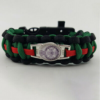 The Royal Green Jackets (RGJ) Badged Survival Bracelet Tactical Edge.
