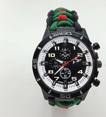 Paracord Watch with The Royal Green Jackets (RGJ) Colours a Great Gift