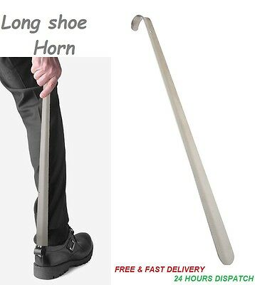 Metal Shoe Horn Large Long Mobilty Aid Easy Slid In Boot Shoe Shoespooner