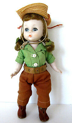 "MADAME ALEXANDER-KINS vintage 7.5"" Bend Knee Walker DOLL Dude Ranch Riding #570"