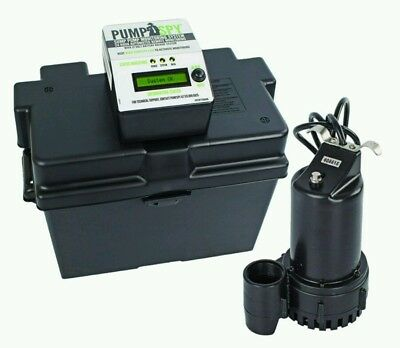 PumpSpy Technology PS1000 12V DC Battery Back-Up Sump Pump with Built-in