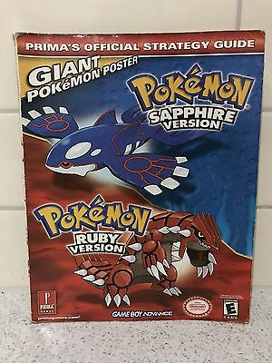 2003 Pokémon Sapphire Ruby Prima Official Strategy Guide GC