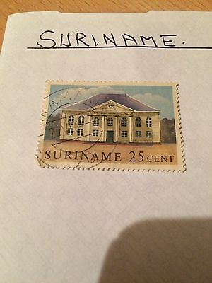 Suriname Stamp 1 Suriname Stamp Please See Pictures.