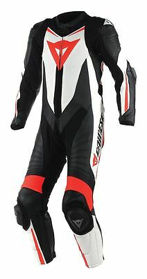 NEW Dainese Laguna Seca D1 Perforated Race Suit Black/White/Red SIZE 54