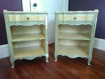 PAIR Vintage French Country  NIGHTSTANDS by JOHN WIDDICOMB