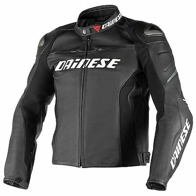 NEW Dainese Racing D1 Leather Jacket SIZE 50 Black