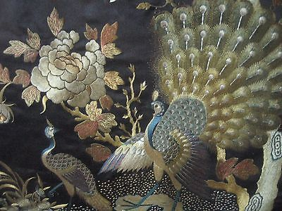 Antique Chinese Silk Embroidery of Birds and Floral