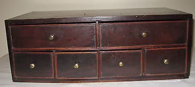 Antique Table Top Apothecary Cabinet Box