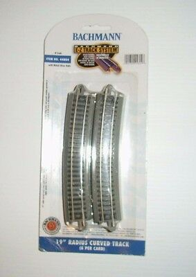 """BACHMANN N scale EZ Track 44804 19"""" radius curved track.  (6 pieces)"""