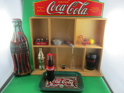 Coca Cola Display Stand With Coca Cola Miniature Collectibles