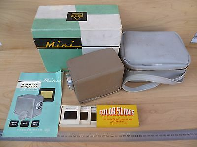 Vintage Old Minolta Projector Outfit In Case, Old Projector Set (F163)