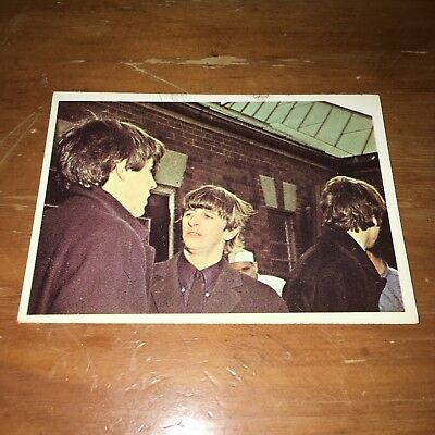 The Beatles Color Cards US Original Topps 1960's Color Bubble Gum Card # 57
