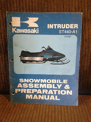 1981 kawasaki invader intruder 440 snowmobile repair manual
