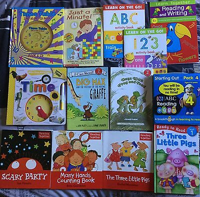 29x Educational Children's Books - Time, Numbers, Letters & Readings
