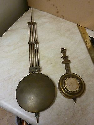 2 Old -  Antique Gridiron Pendulums