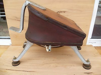 Vintage Old Large Size Leather, Timber, Alum Bellows, Tool (F230)