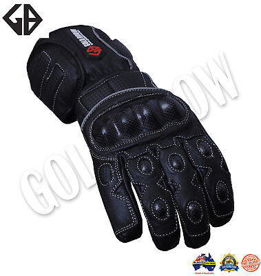Goldbrow Top Quality Real Goatskin Leather Motorcycle Shell Protection Gloves