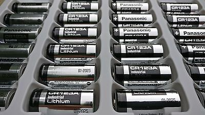 2x Panasonic CR123A 3V Lithium Photo Battery 123 CR123 DL123 CR17345 New