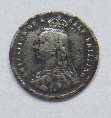 Vintage Queen Victoria model Jubilee sixpence coin 13 mm Token Toy Money iron