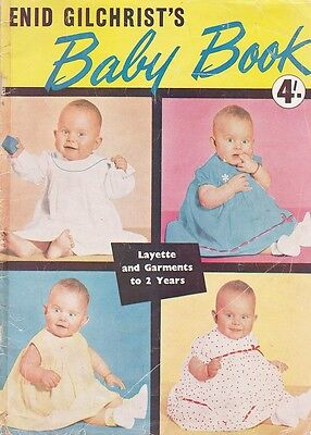 1950s VINTAGE NEW IDEA ENID GILCHRIST'S BABY BOOK Sewing Patterns 0-2 Years
