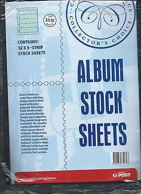 Collectors Choice Stamp Album Stock Sheets 12 x 5 - strip stock sheets