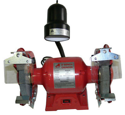 "BENCH GRINDER 8"" (200mm) 1HP WITH 1"" Wheel WORKLIGHT"