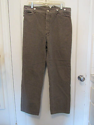 Men's Wahmaker Raised Dobby Stripe Pants Sz 36 Brown Taupe Scully