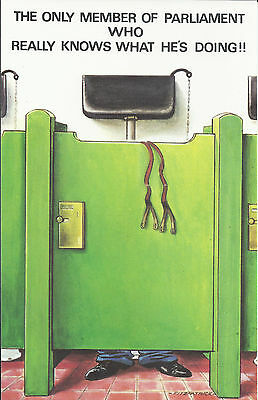 Vintage 1970's Bamforth COMIC Postcard (as new condition) Member Parliament #406