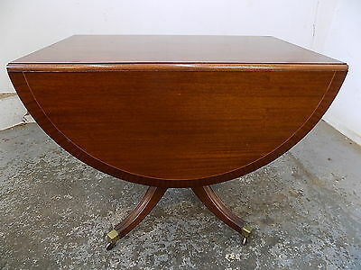 pedestal,splayed legs,castors,dining table,extending,table,mahogany,drop side