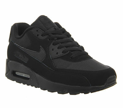 Mens Nike Essential Airmax 90 Suede Black Trainers £90 New Box End Of Our Stock