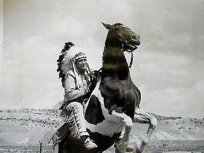 Vintage Indian Native American Photo Santa Fe Railroad R. Collins Bradley