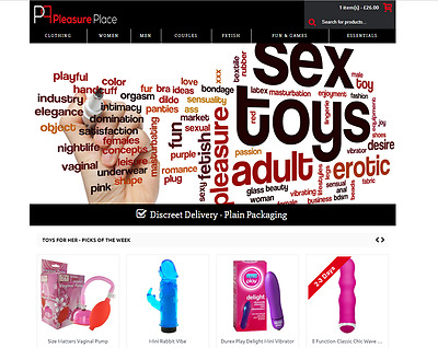 ADULT SEX TOYS & CLOTHING WEBSITE FOR SALE + Dropshipping Account
