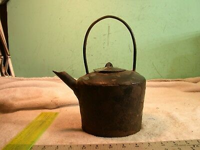 Antique very old Circa 1750? China Cast Iron Teapot Teapot shows its ago Asian