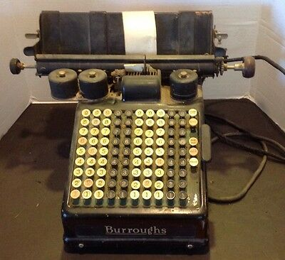Vintage 1920s Burroughs Electric Adding Machine