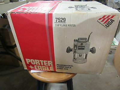 Porter Cable 7529 2 Hp Plunger Router New In The Box.
