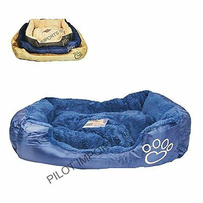 Munty Deluxe Soft Washable Dog Pet Warm Basket Bed Cushion with Fleece Lining