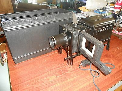 Vtg Antique Bausch Lomb Projector Magic Lantern w/Case